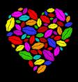 Colorful lipstick heart vector image