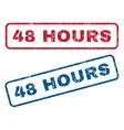 48 Hours Rubber Stamps vector image vector image