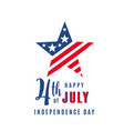 4th july celebration holiday banner star shape vector image