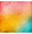 Abstract 2D mulicolor composition with angular vector image vector image
