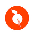 Apple with Stairway Round Icon vector image vector image