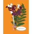 autumn bouquet vector image vector image