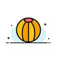 ball beach beach ball toy business flat line vector image
