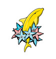 banana dolphin with color stars vector image vector image