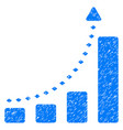 bar chart positive trend grunge icon vector image vector image