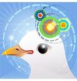 Bird navigation vector image vector image