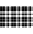 black and white fabric texture check seamless vector image vector image