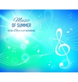 blue background with music notes and key vector image