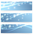 Bright modern swoosh speed sparkling flare line vector image vector image