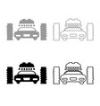 car wash automatic icon outline set grey black vector image vector image