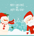 Cartoon for holiday theme with santa claus and