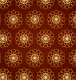 Classic Gold Flower Pattern on Blown Color vector image