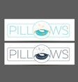 cleaning pillows linear style vector image