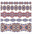 collection seamless ornamental floral stripes vector image vector image