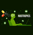 colourful nootropics and their vector image vector image