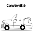 Convertible car art vector image vector image
