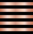 copper rose gold foil stripes on black seamless vector image vector image