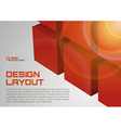 cube design red vector image vector image