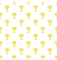 Cup championship pattern cartoon style vector image vector image