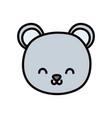 cute bear head cartoon icon vector image vector image