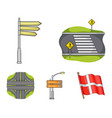 direction signs and other web icon in cartoon vector image