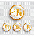 discount banners on transparent background vector image