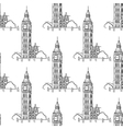 English Big Ben seamless pattern vector image vector image