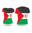 Flag shirt design of Western Sahara vector image vector image