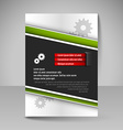 Flyer magazine cover brochure template design for vector image