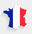 france flag map on gray background vector image vector image