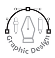 graphic design concept and icons vector image vector image