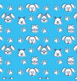 group of pets pattern vector image vector image