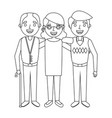 group the elderly woman and men grandparents vector image