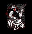 guitar zero vector image vector image