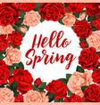 hallo spring poster vector image vector image