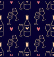 hand drawn romantic doodle pattern-11 vector image vector image