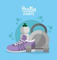 healthy habits concept vector image