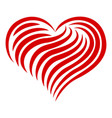 heart abstract line icon simple style vector image vector image