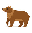 icon brown bear isolated forest woodland vector image