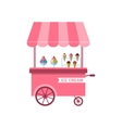 Icon of Stand of Ice Creams Sweet Cart Isolated vector image