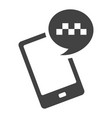linear simple mobile app taxi service icon vector image vector image