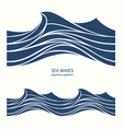 marine seamless pattern with stylized blue waves vector image vector image