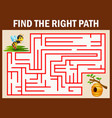 maze game finds the bee way to bee hive vector image vector image