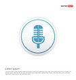 microphone icon - white circle button vector image