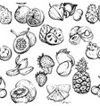 monochrome seamless pattern with fruit vector image
