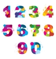 numbers painted by colorful splashes vector image