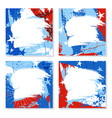 patriotic design templates with space for text vector image vector image