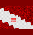 red abstract background lowpoly vector image