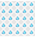 Seamless pattern with blue gemstones vector image