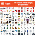 set of 120 icons vector image vector image